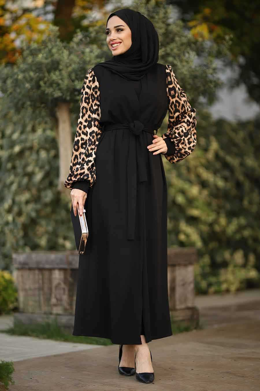 Black Hijab Evening Dress 9133S
