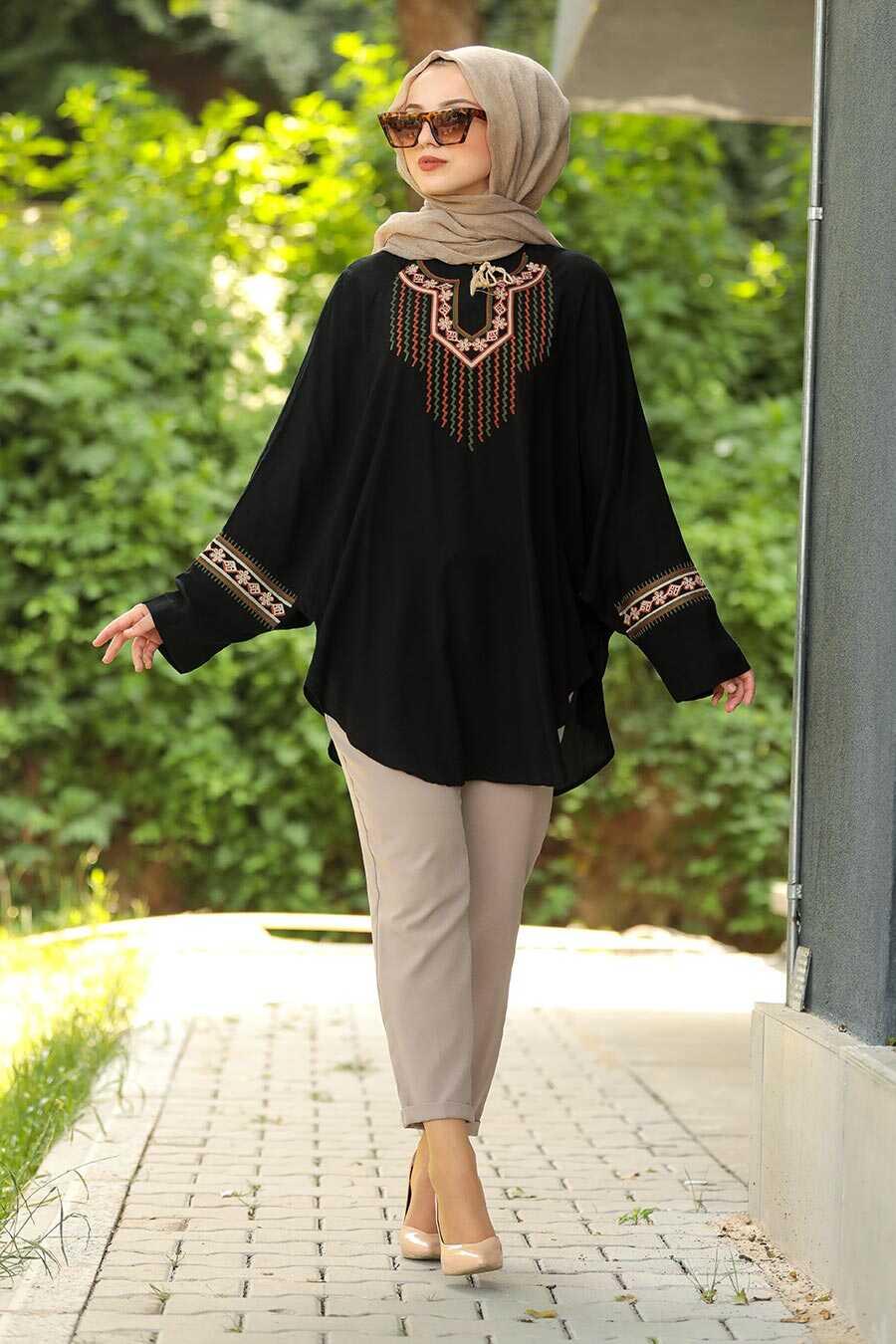 Black Hijab Poncho 236S
