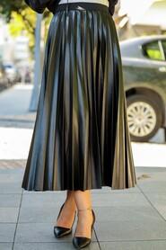 Black Hijab Skirt 12911S - Thumbnail