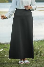 Black Hijab Skirts 5937S - Thumbnail