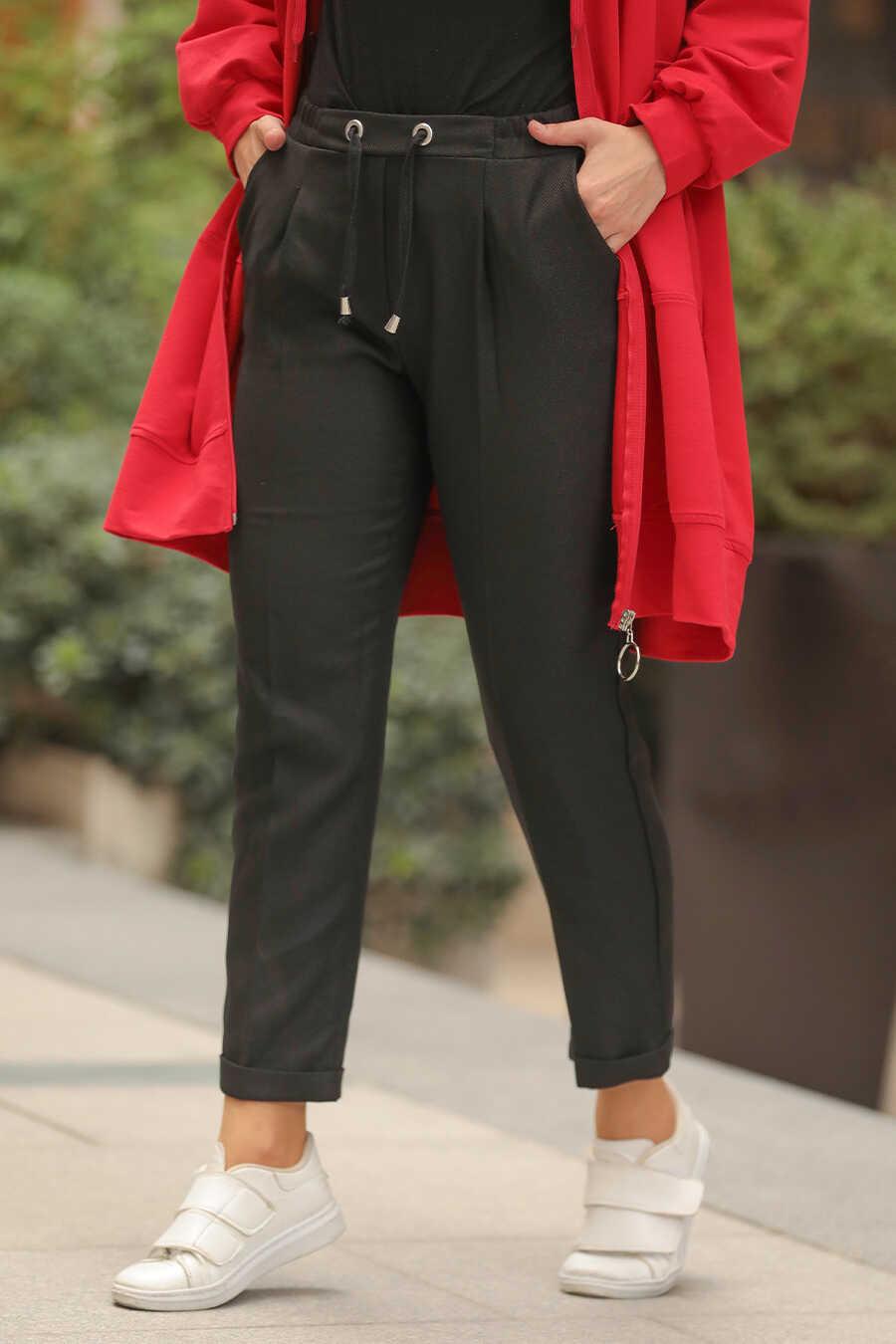 Black Hijab Trousers 10402S