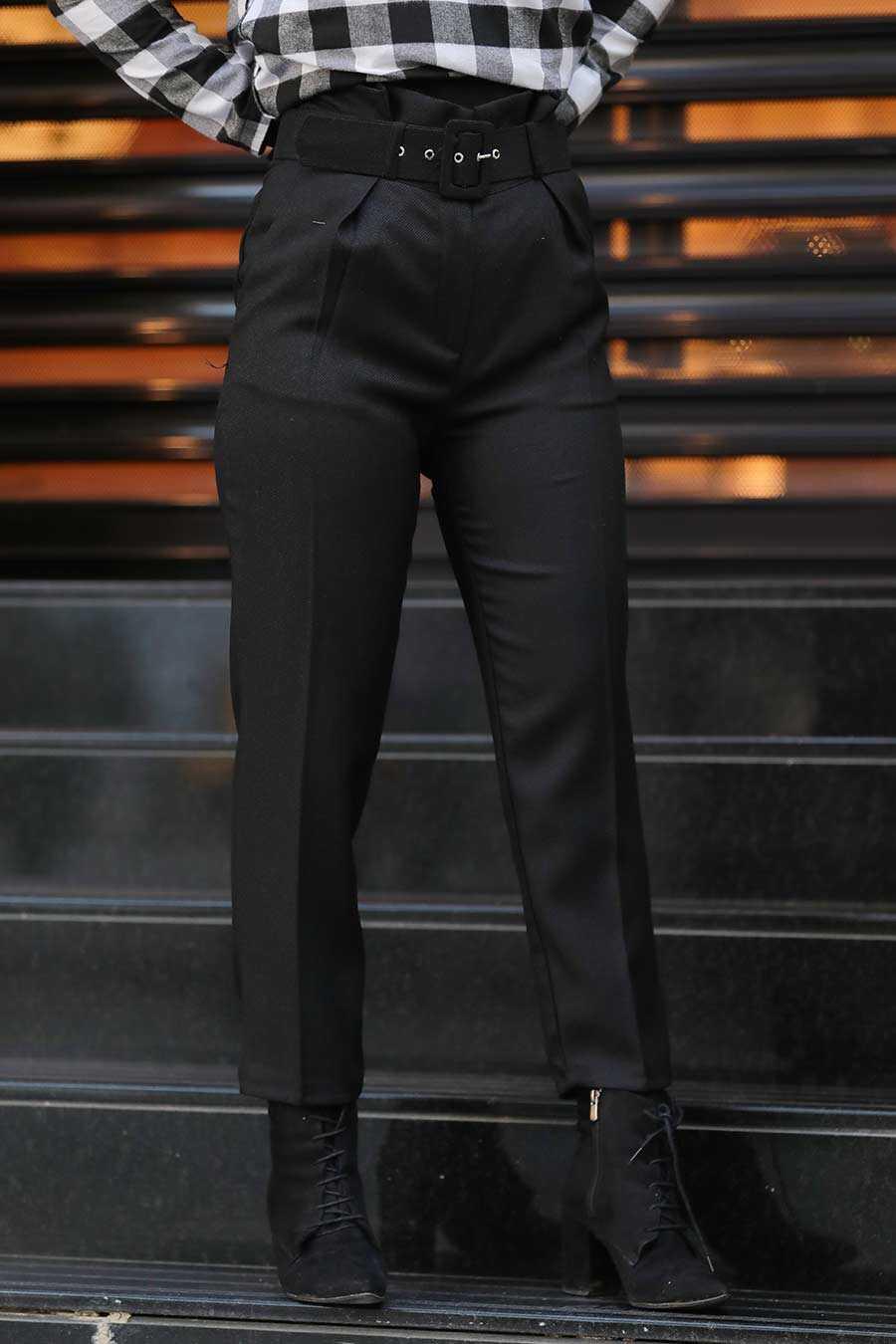 Black Hijab Trousers 1068S