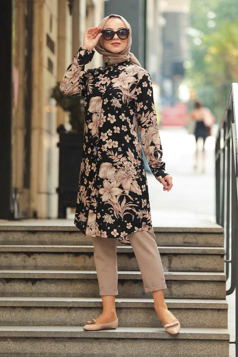 Black Hijab Tunic 11521S