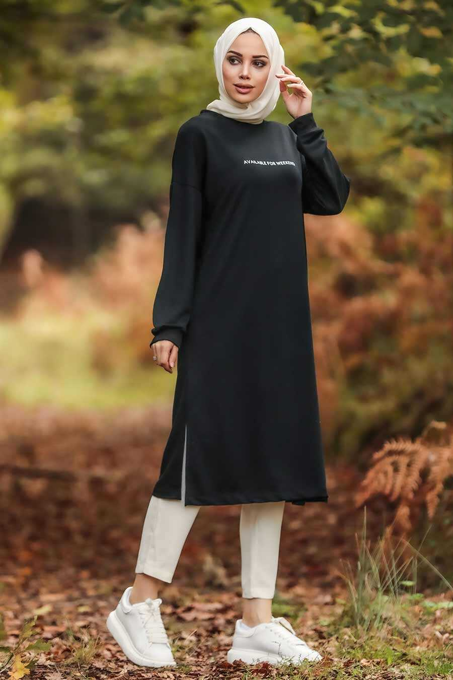Black Hijab Tunic 1621S