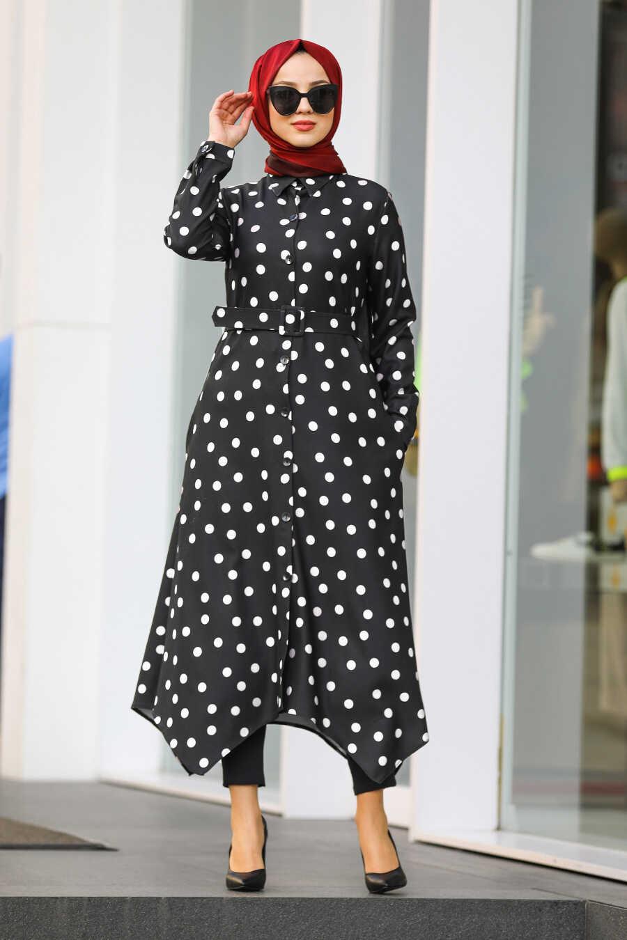 Black Hijab Tunic 4851S