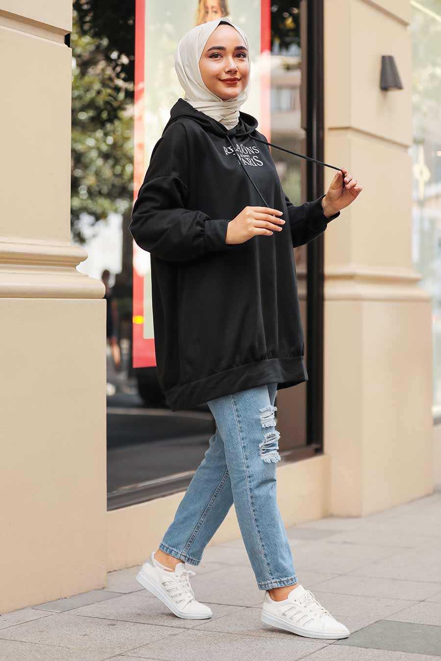 Black Hijab Tunic 55315S