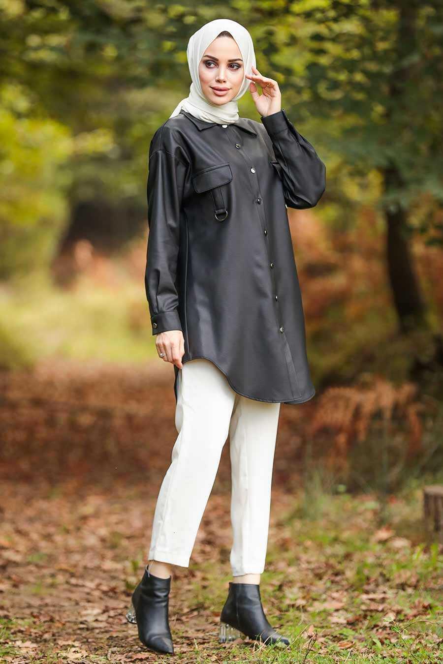 Black Hijab Tunic 5583S