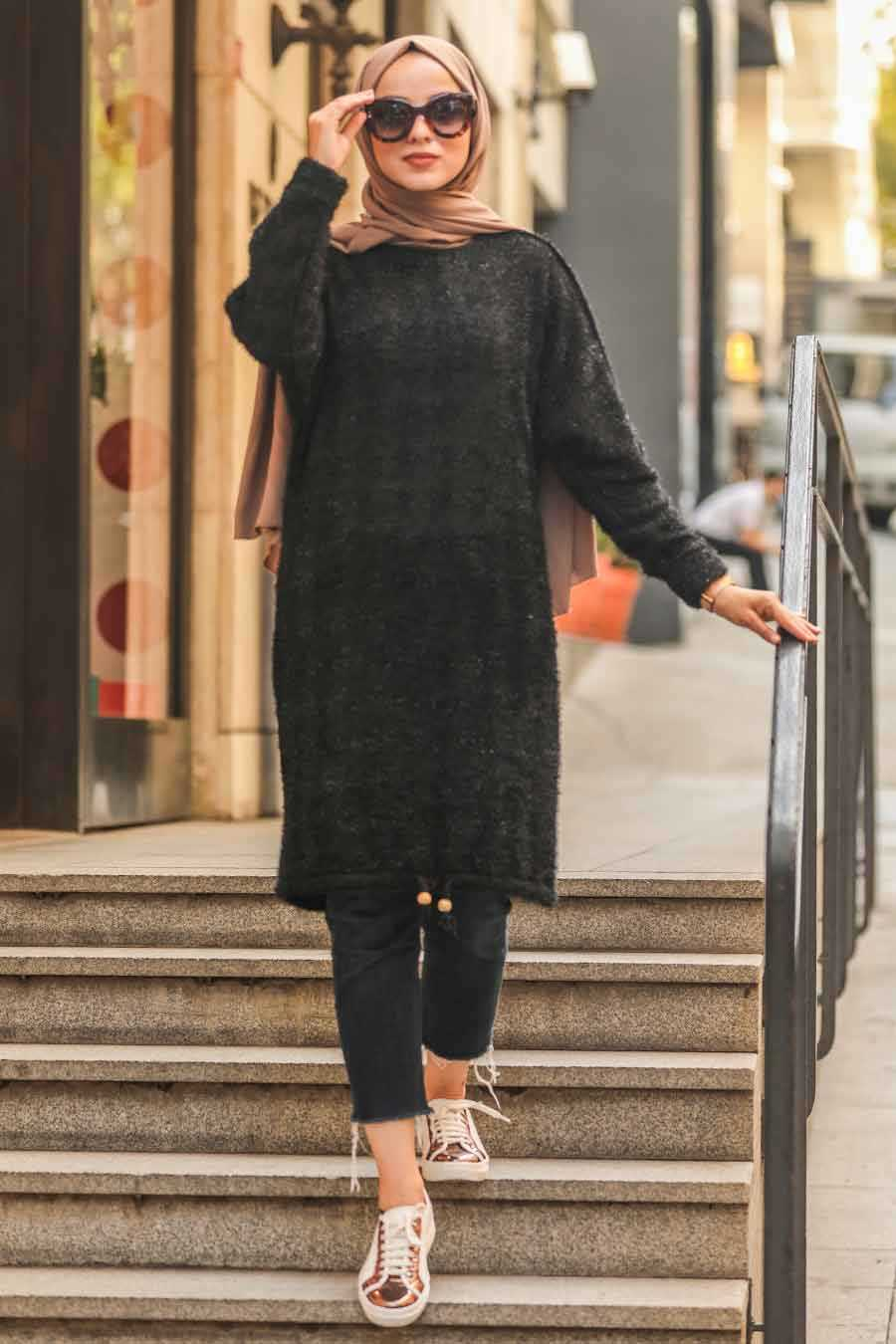 Black Hijab Tunic 5968S