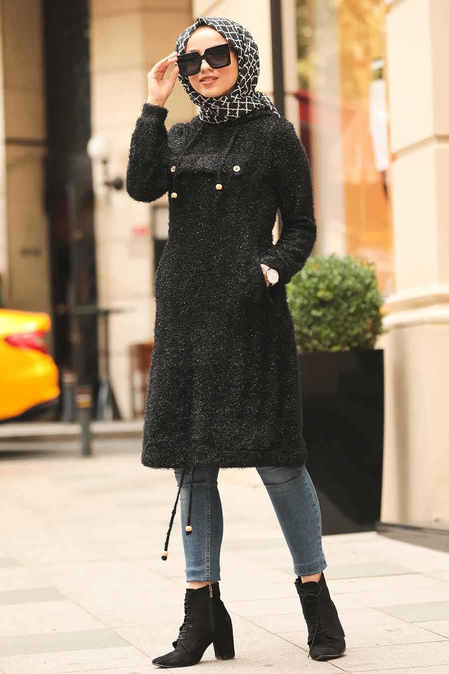 Black Hijab Tunic 5969S