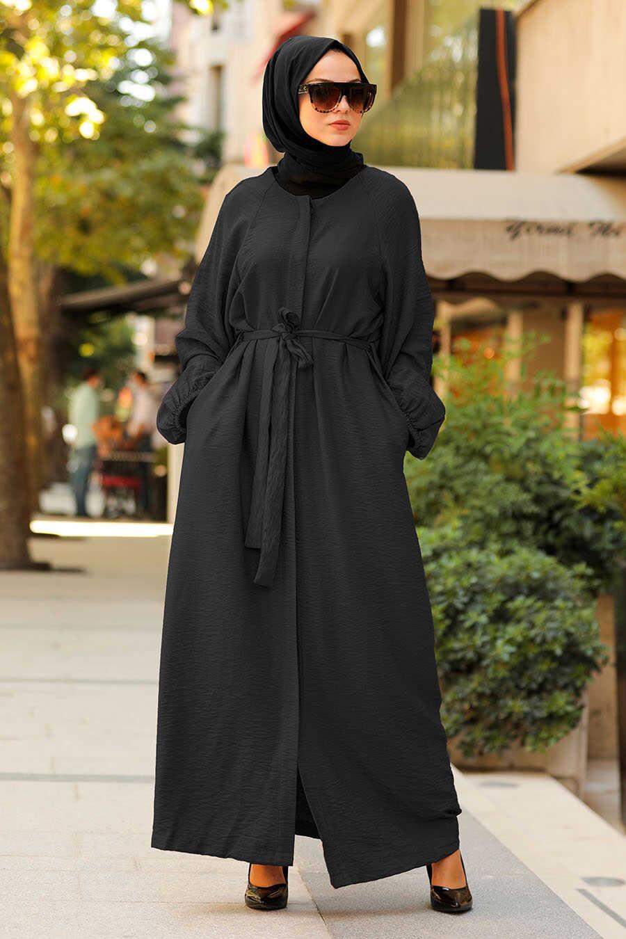 Black Hijab Turkish Abaya 40921S