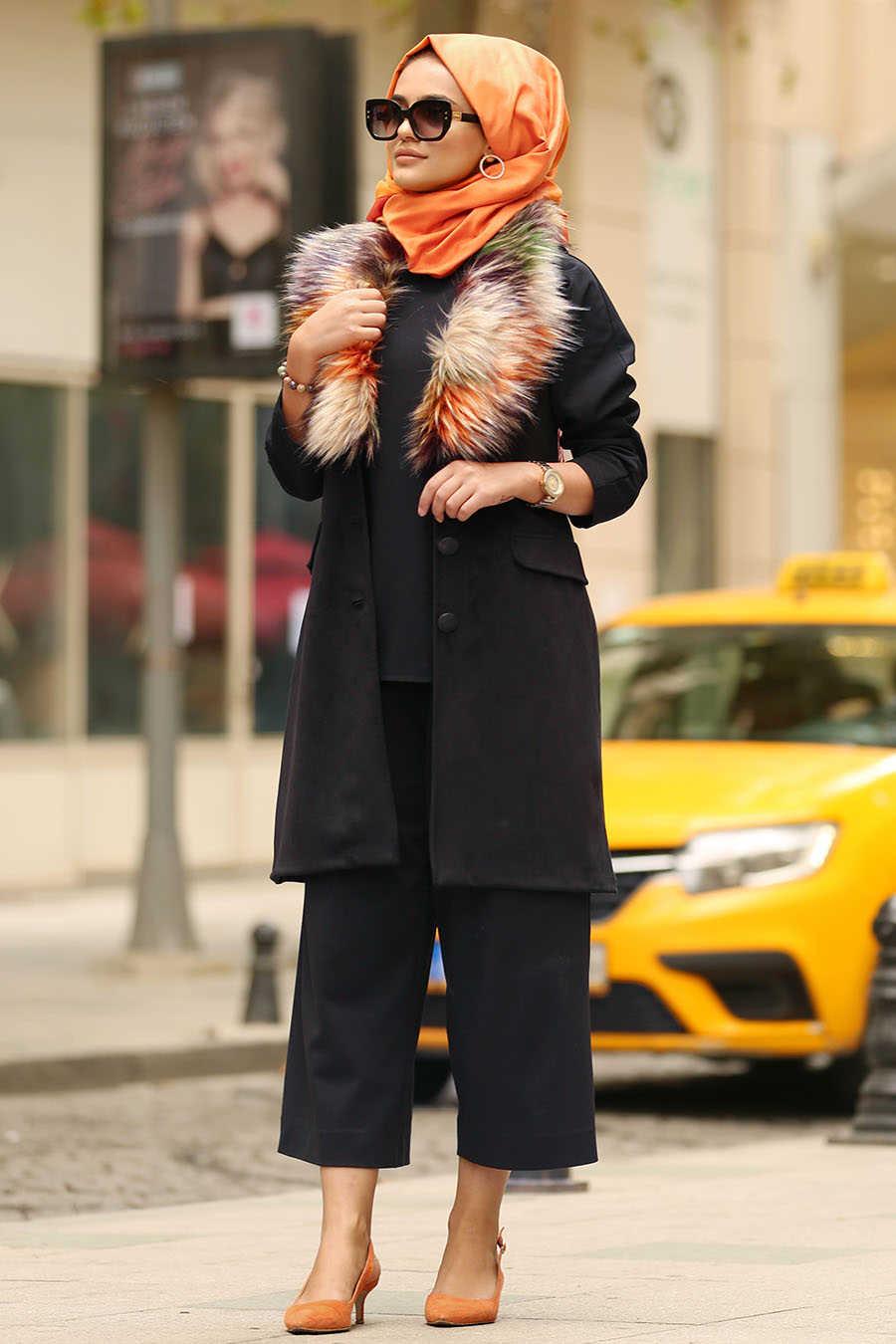 Black Hijab Vest 100455S