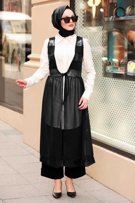 Black Hijab Vest 70090S