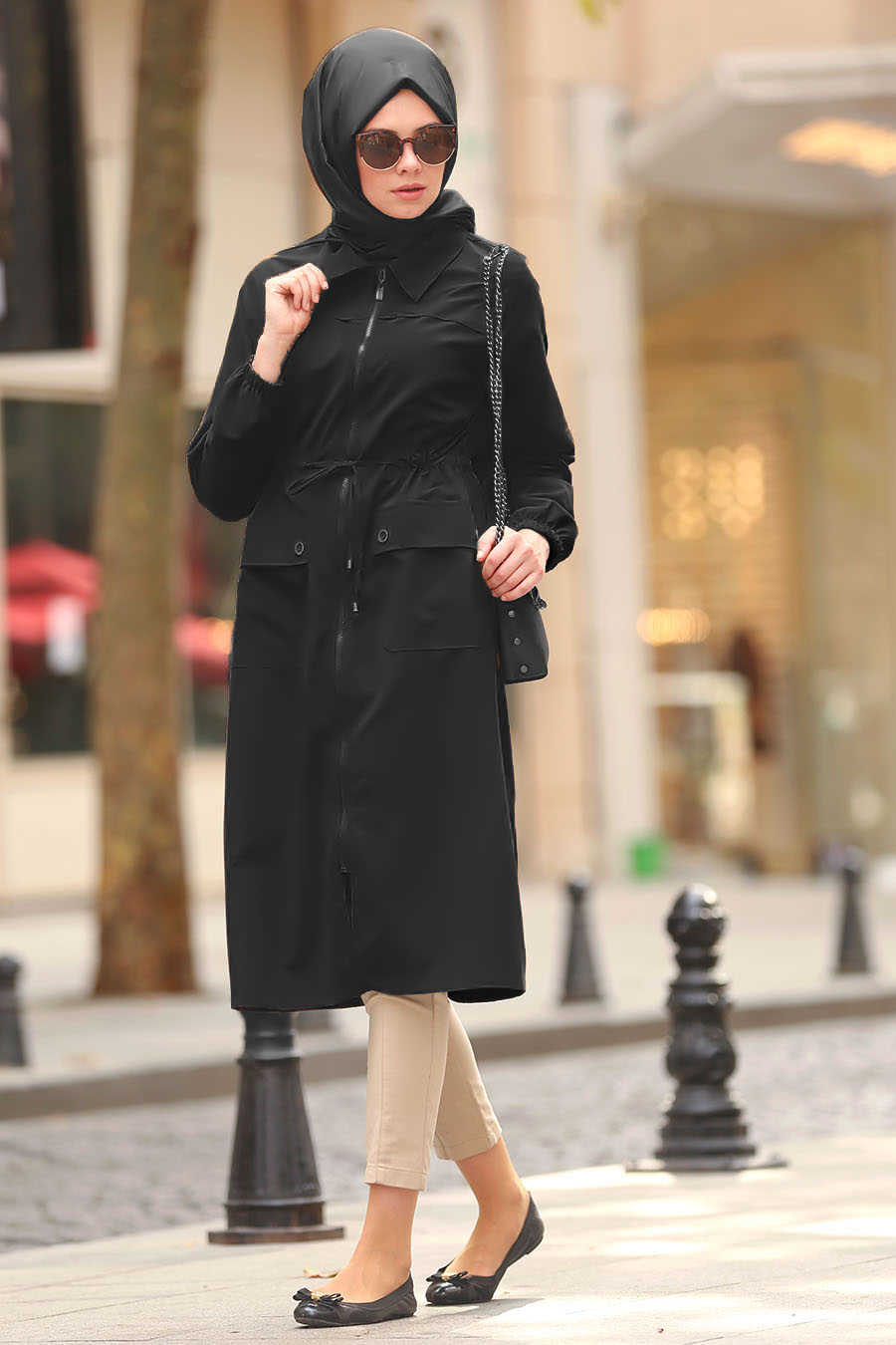 Black Hijab Coat 5677S