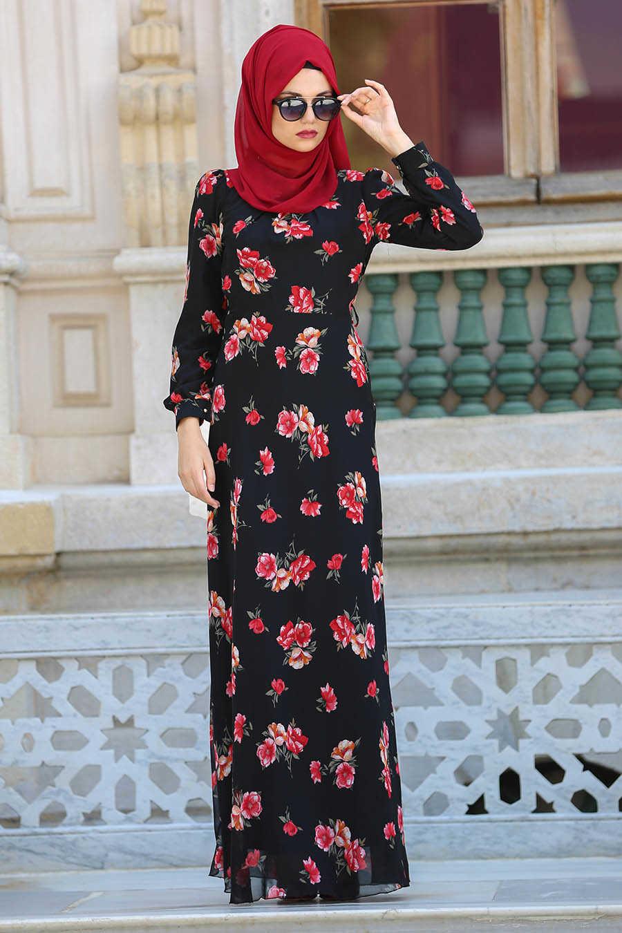 Black Hijab Dress 76937S