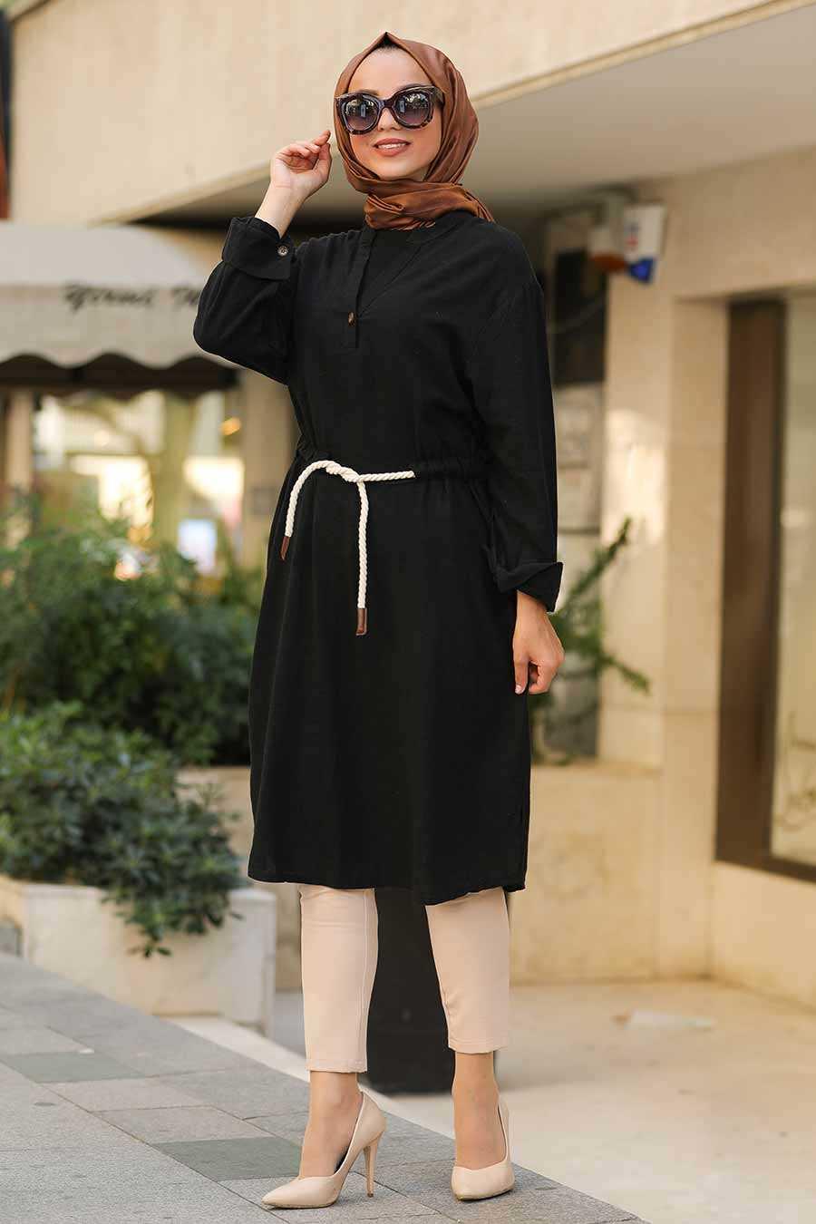 Black Hijab Tunic 1567S