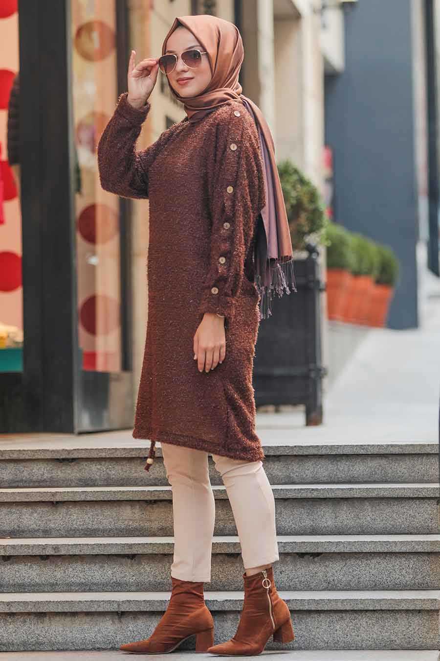 Brown Hijab Tunic 5968KH