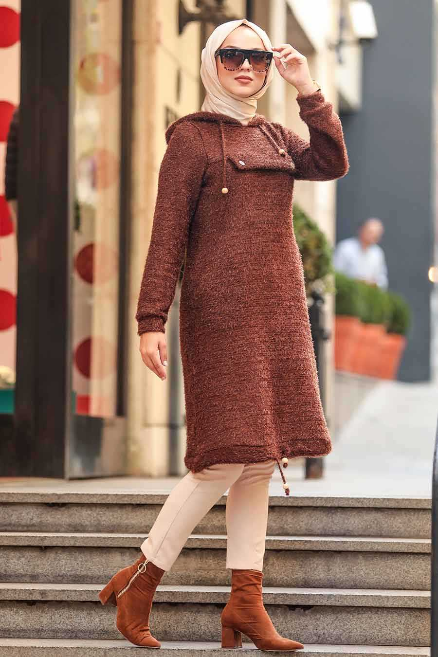 Brown Hijab Tunic 5969KH
