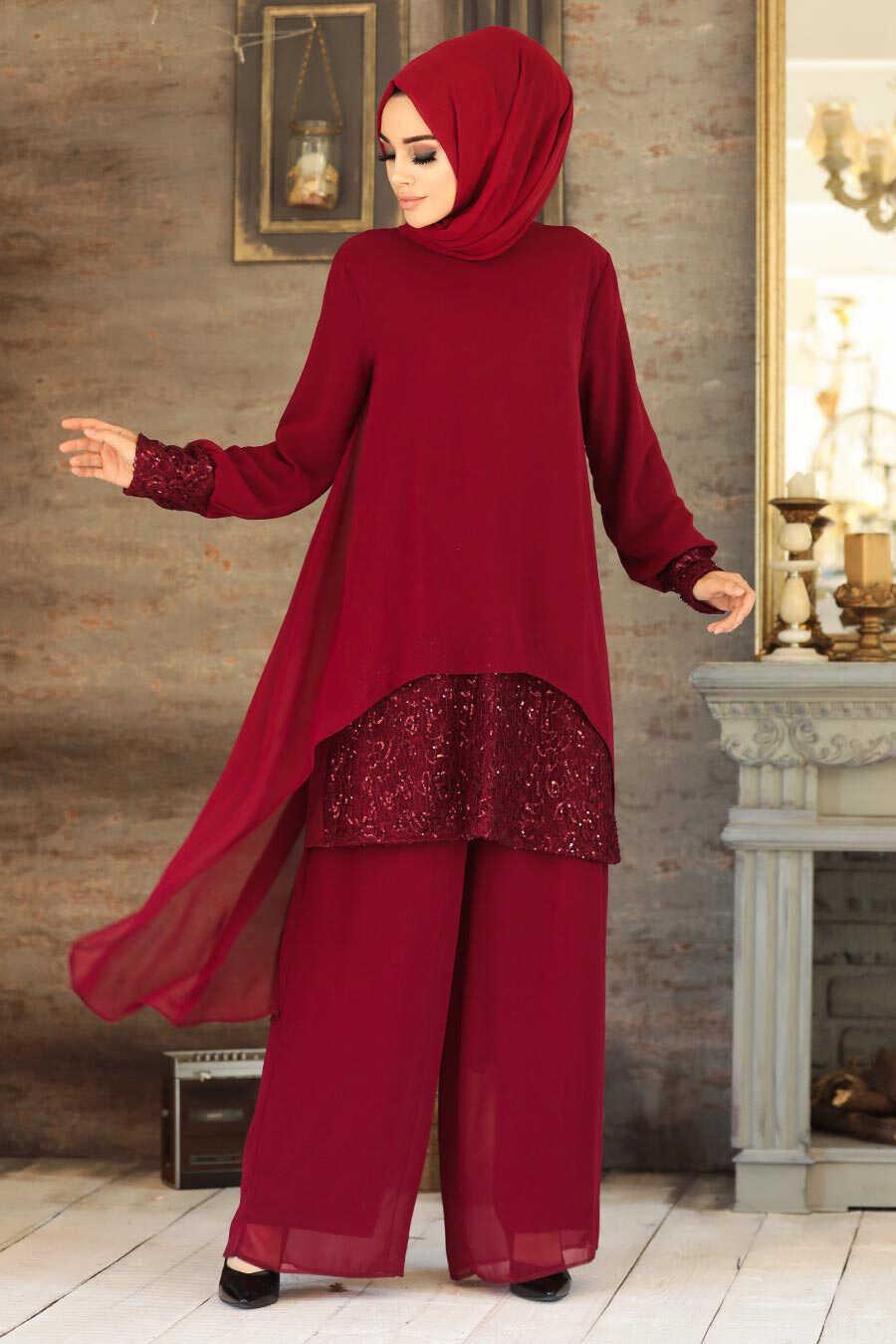 Claret Red Dual Suit Dress 50053BR