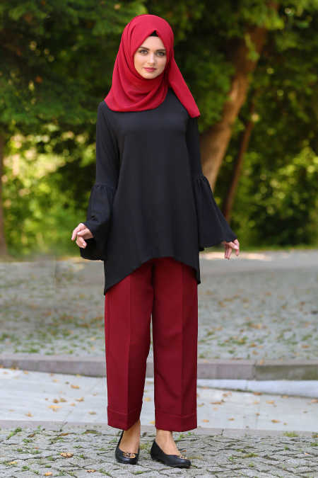 Claret Red Hijab Pants 90610BR