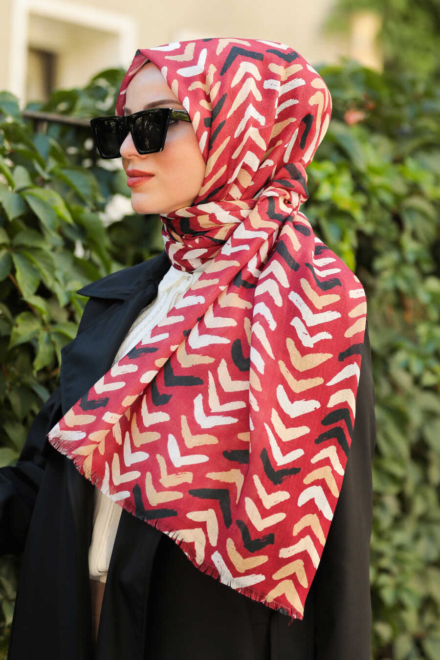 Claret Red Hijab Shawl 7516BR
