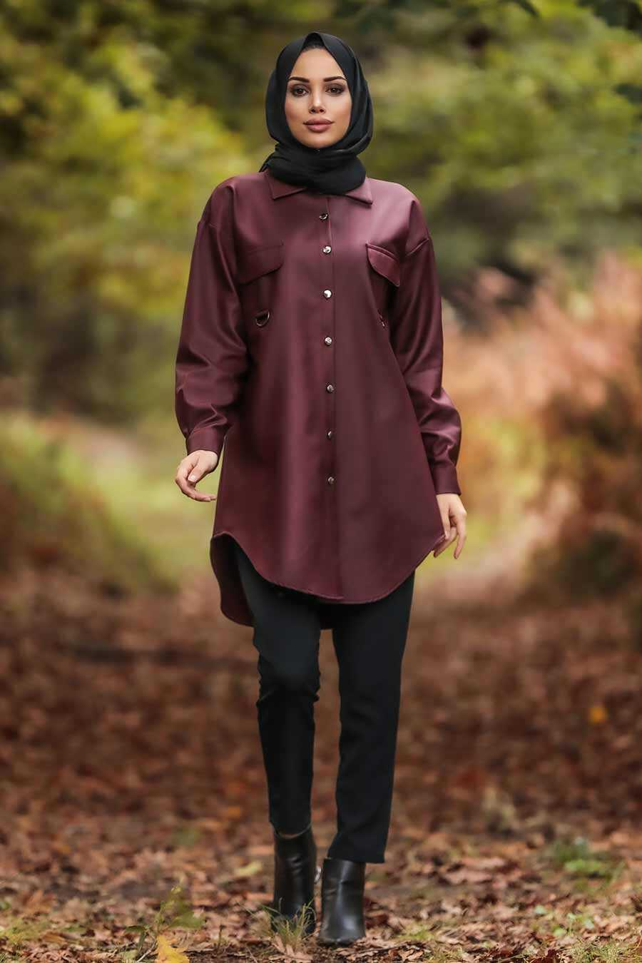 Claret Red Hijab Tunic 5583BR
