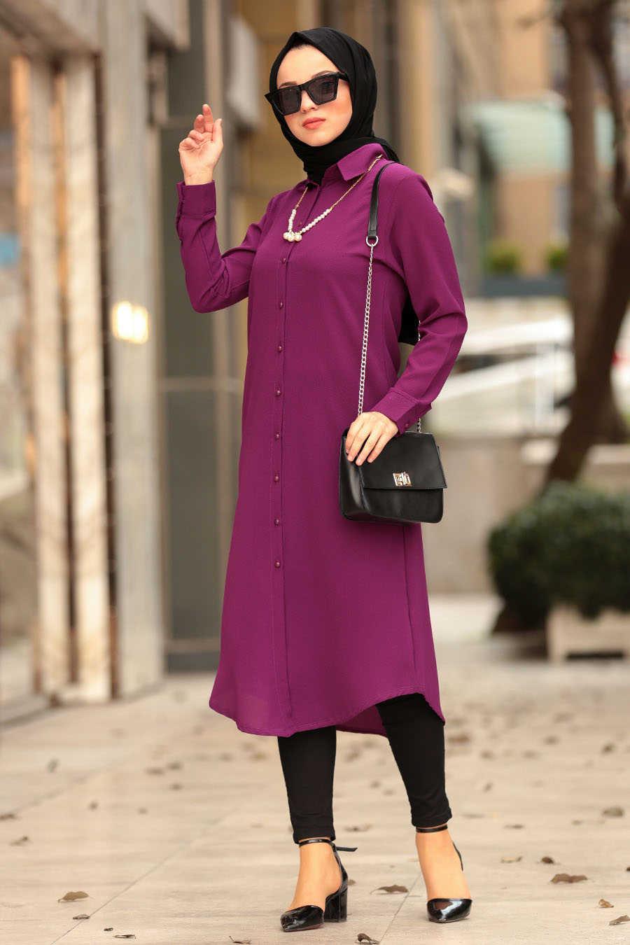 Dark Purple Hijab Tunic 4000MU