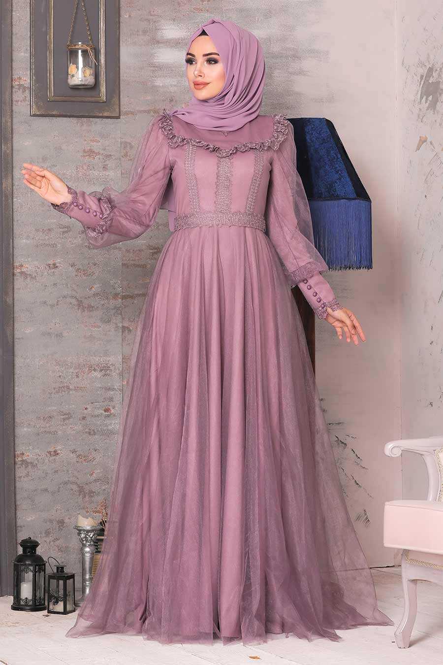 Dusty Rose Evening Dress 21790GK