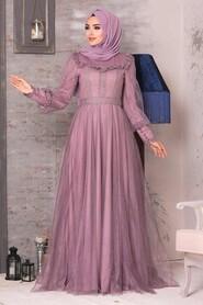 Dusty Rose Evening Dress 21790GK - Thumbnail