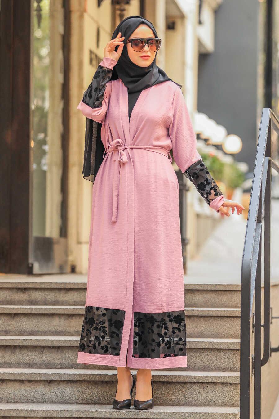 Dusty Rose Hijab Abaya Suit 221146GK