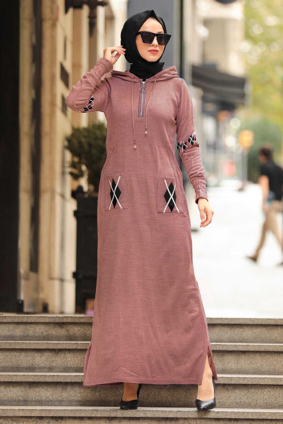 Dusty Rose Hijab Dress 2243GK