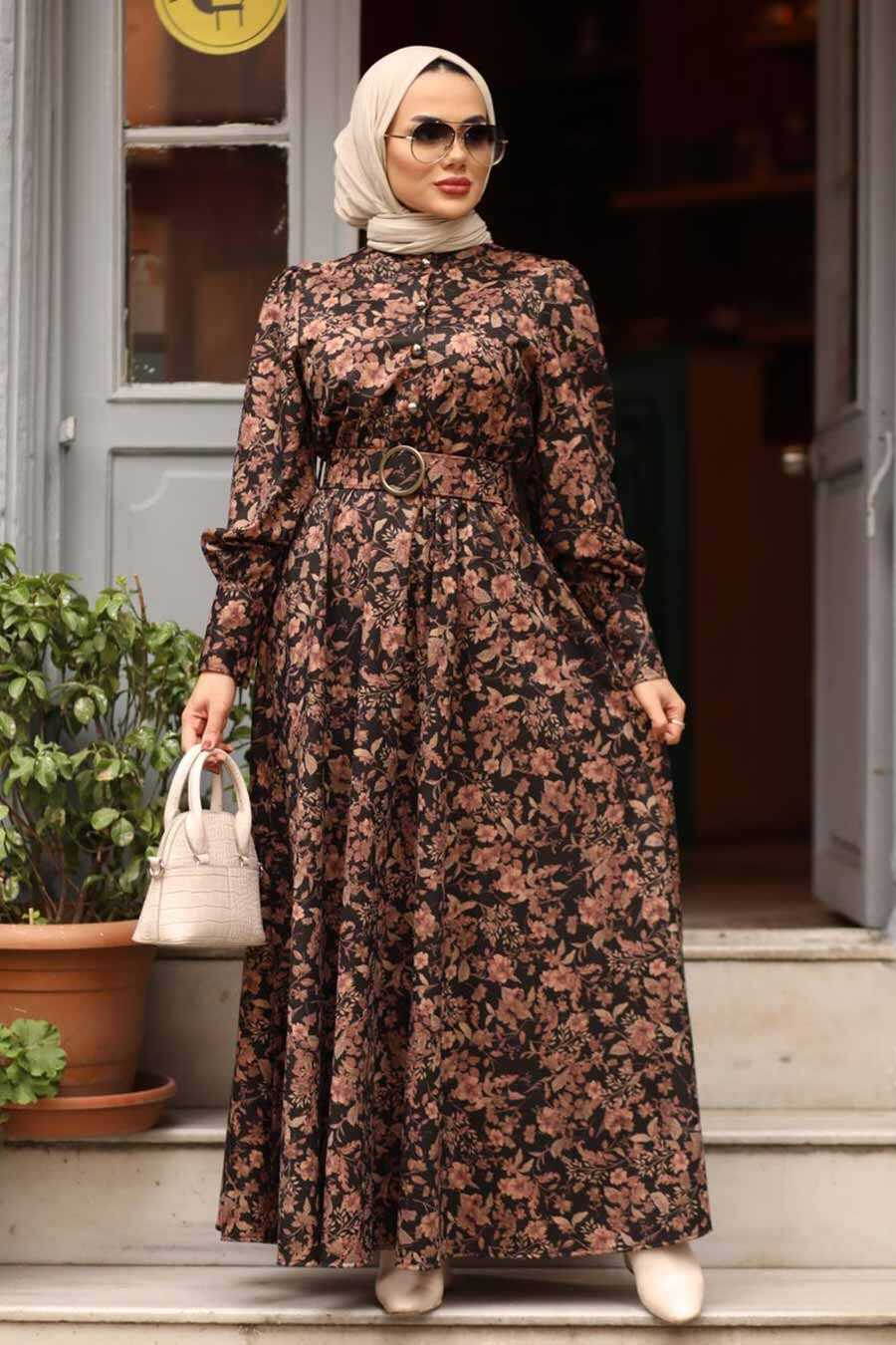 Dusty Rose Hijab Dress 44671GK
