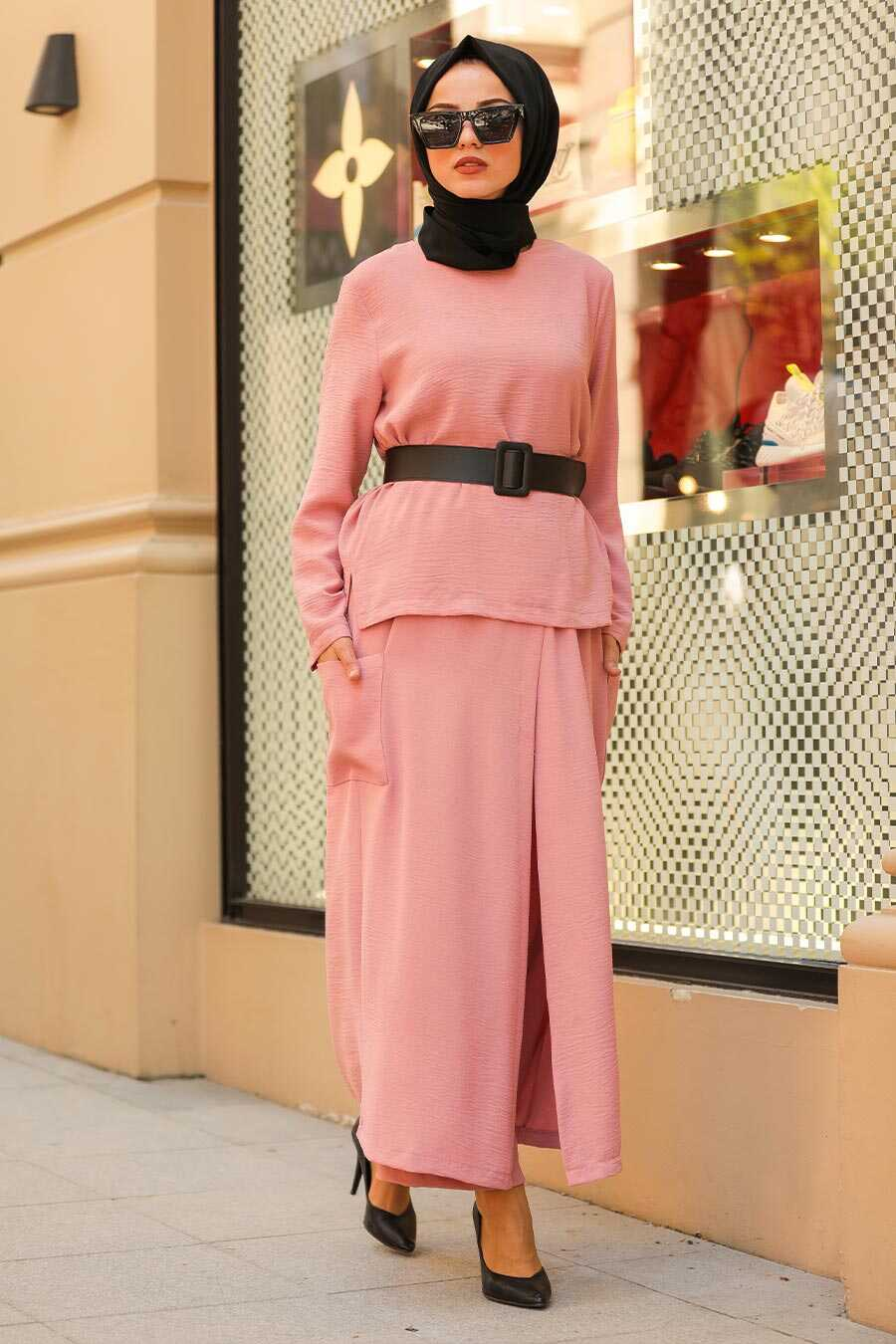 Dusty Rose Hijab Dual Suit Dress 12801GK