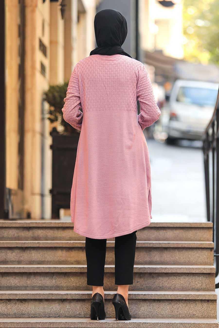 Dusty Rose Hijab Knitwear Tunic 1964GK