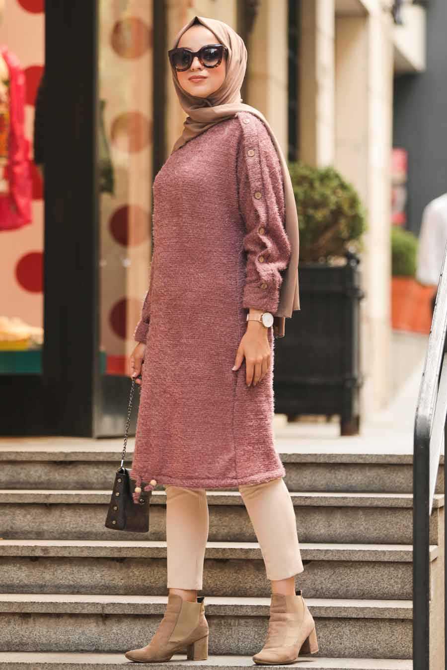 Dusty Rose Hijab Tunic 5968GK