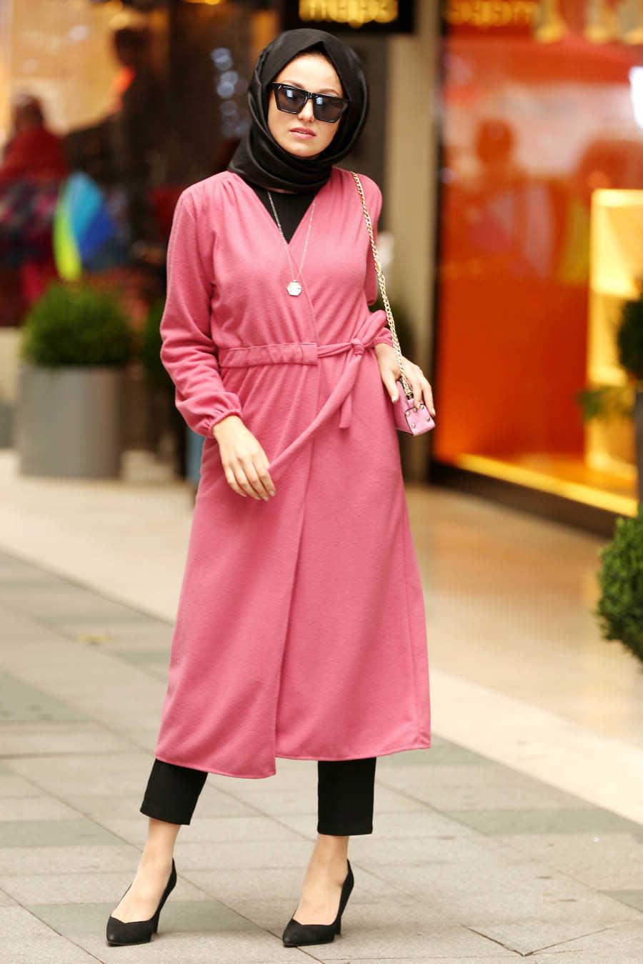 Dusty Rose Hijab Coat 2473GK