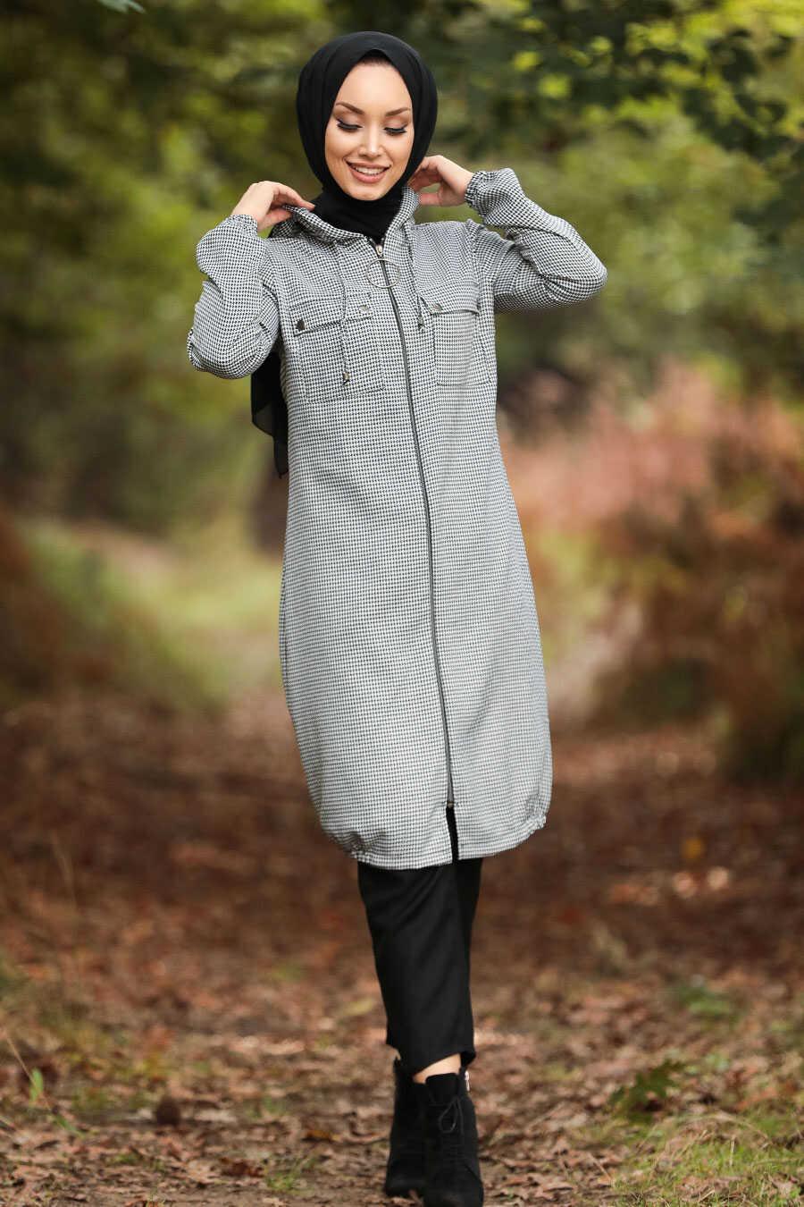 Ecru Hijab Coat 503E