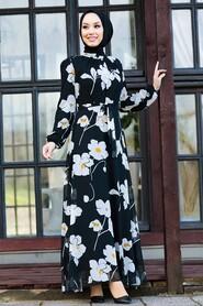 Ecru Hijab Dress 81392E - Thumbnail
