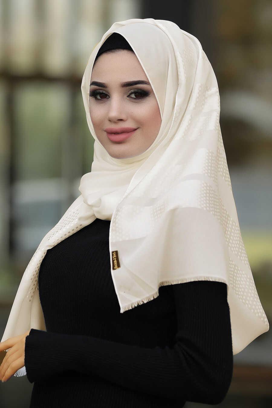Ecru Hijab Shawl 7505E