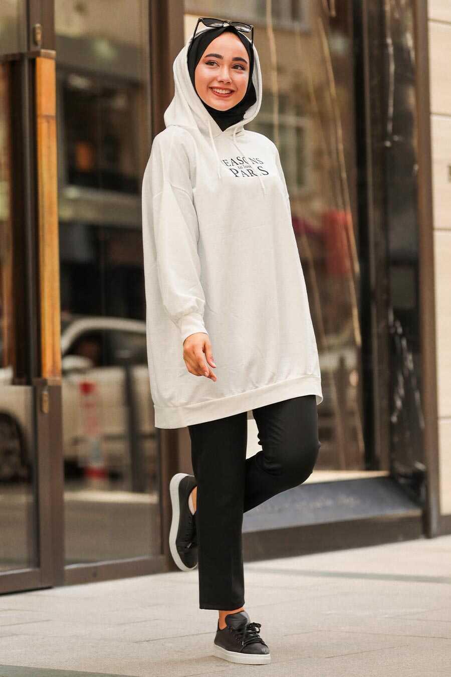 Ecru Hijab Tunic 55315E
