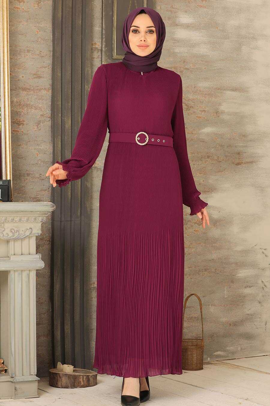 Fuchsia Hijab Dress 2751F