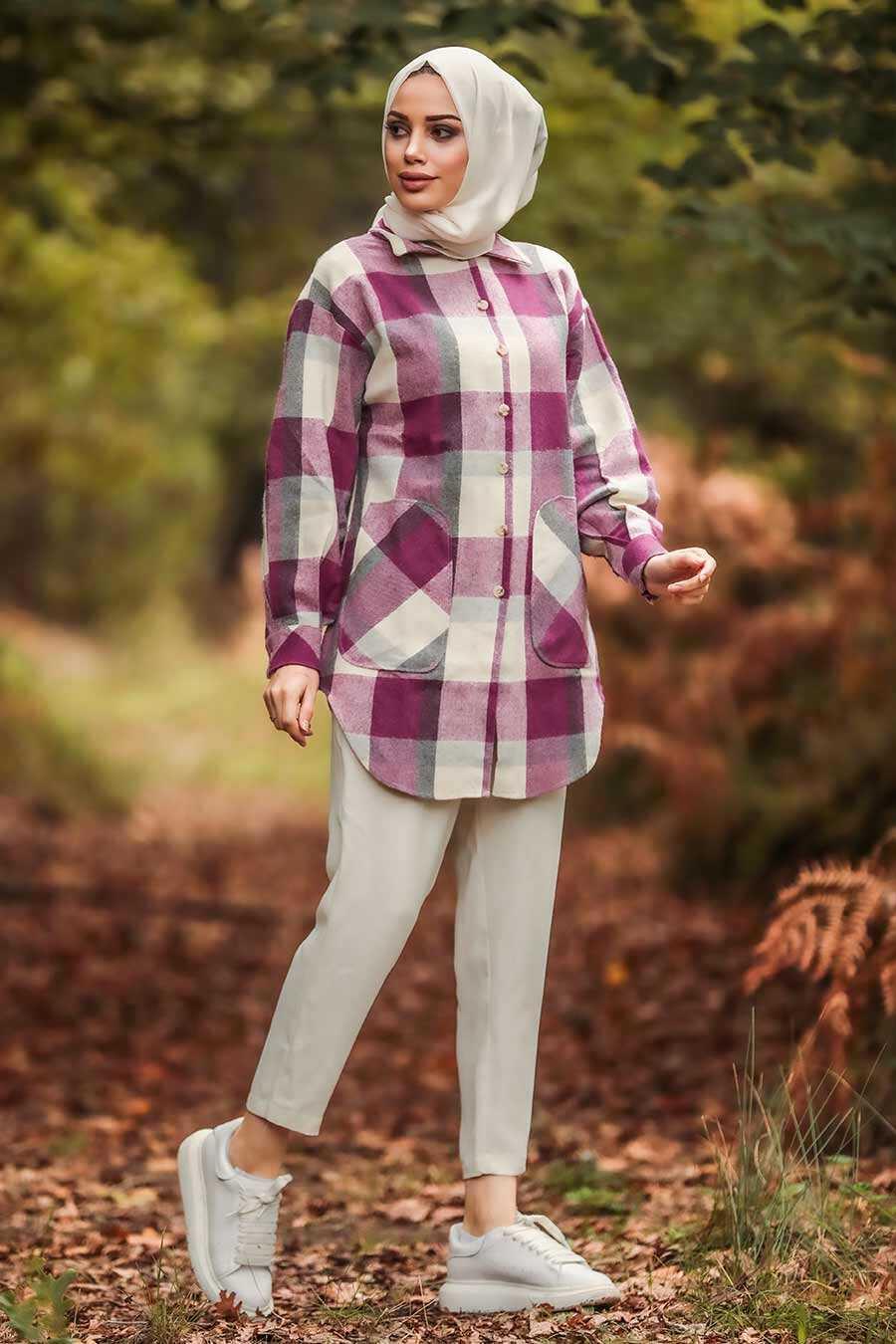 Fuchsia Hijab Tunic 5582F