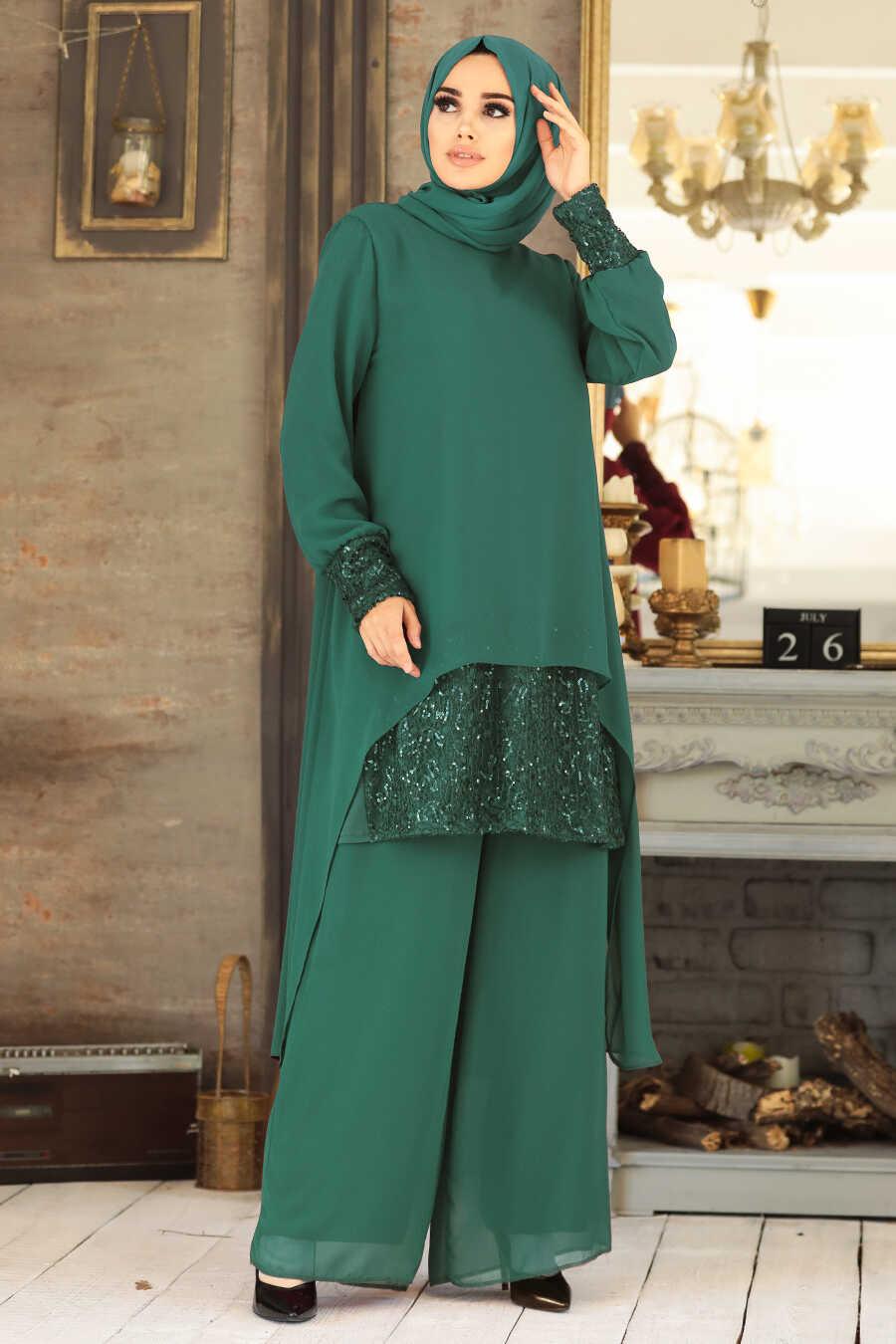 Green Dual Suit Dress 50053Y