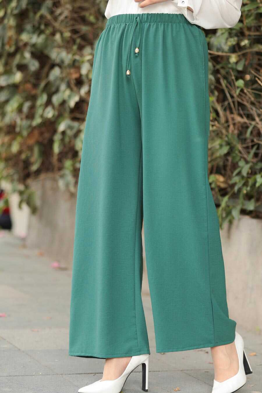 Green Hijab Trousers 1796Y