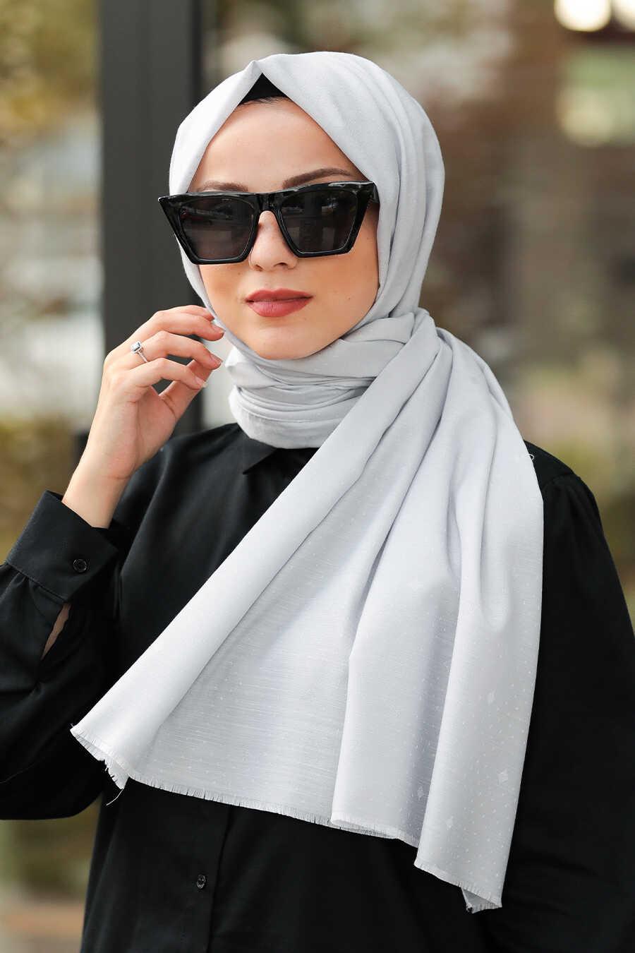 Grey Hijab Shawl 7529GR