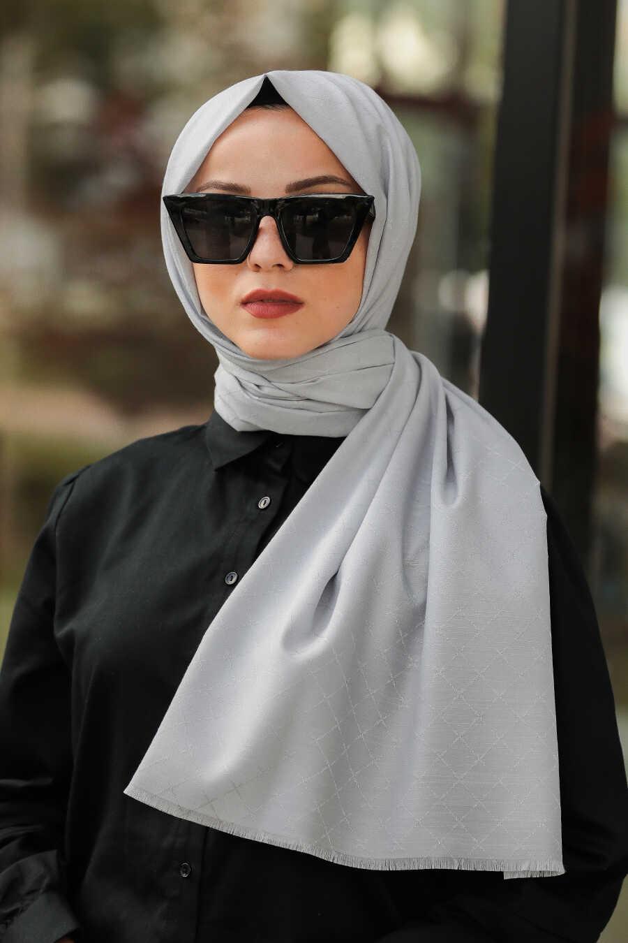Grey Hijab Shawl 7530GR