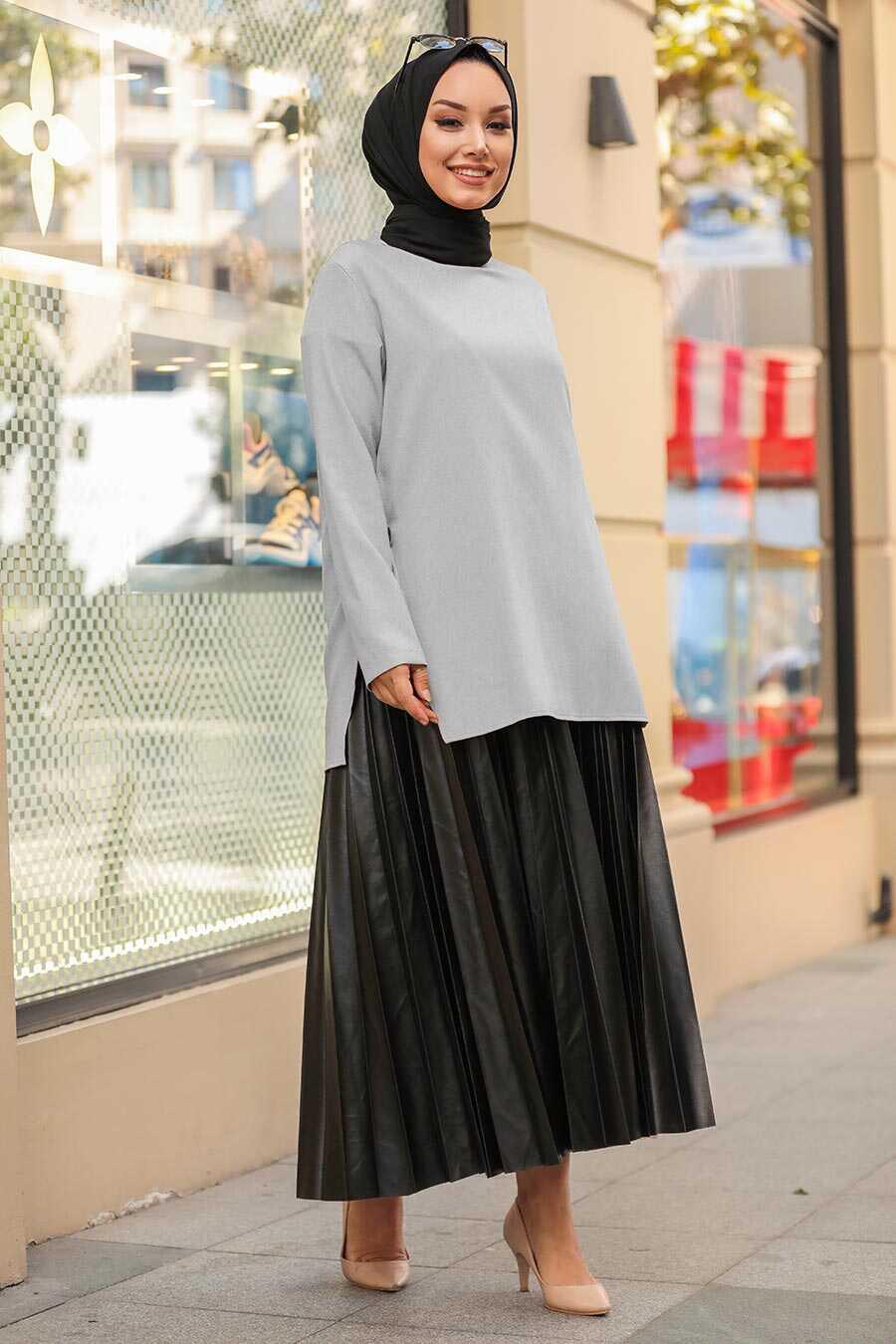 Grey Hijab Suit 1298GR