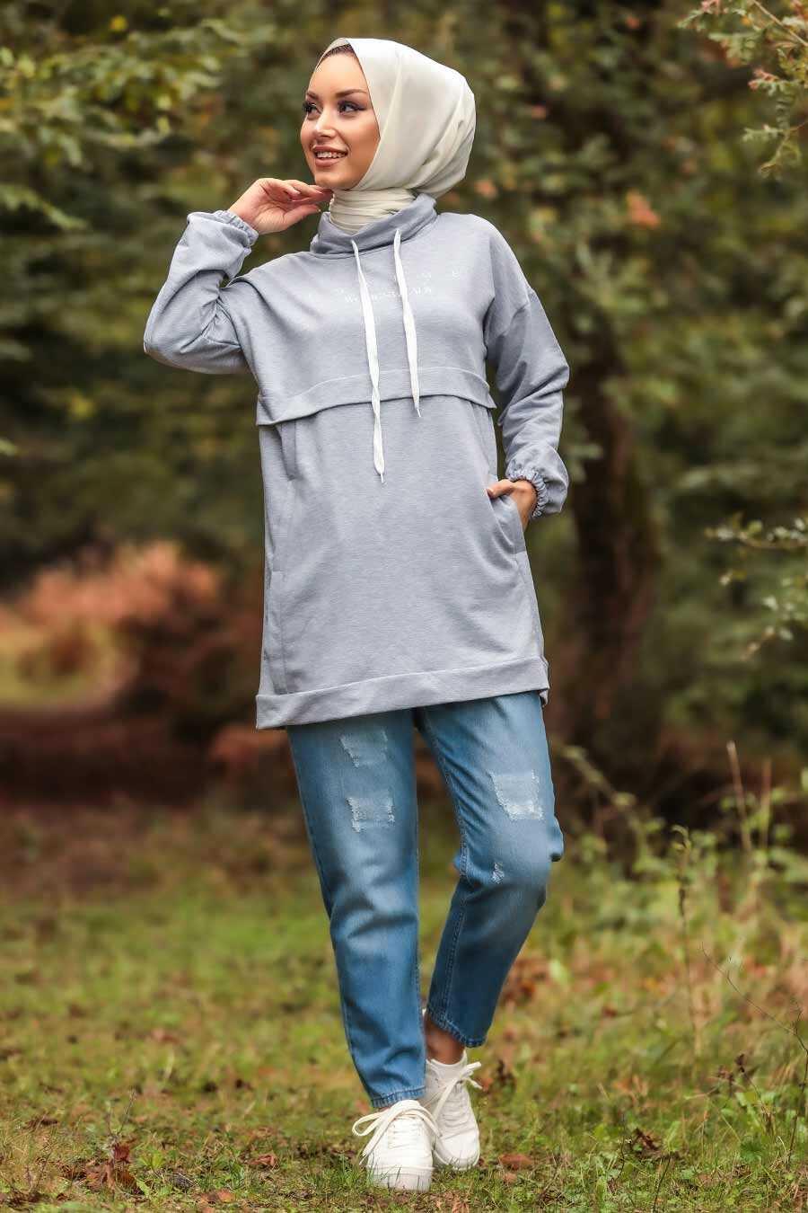 Grey Hijab Tunic 1385GR