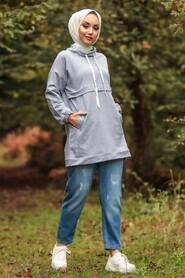 Grey Hijab Tunic 1385GR - Thumbnail