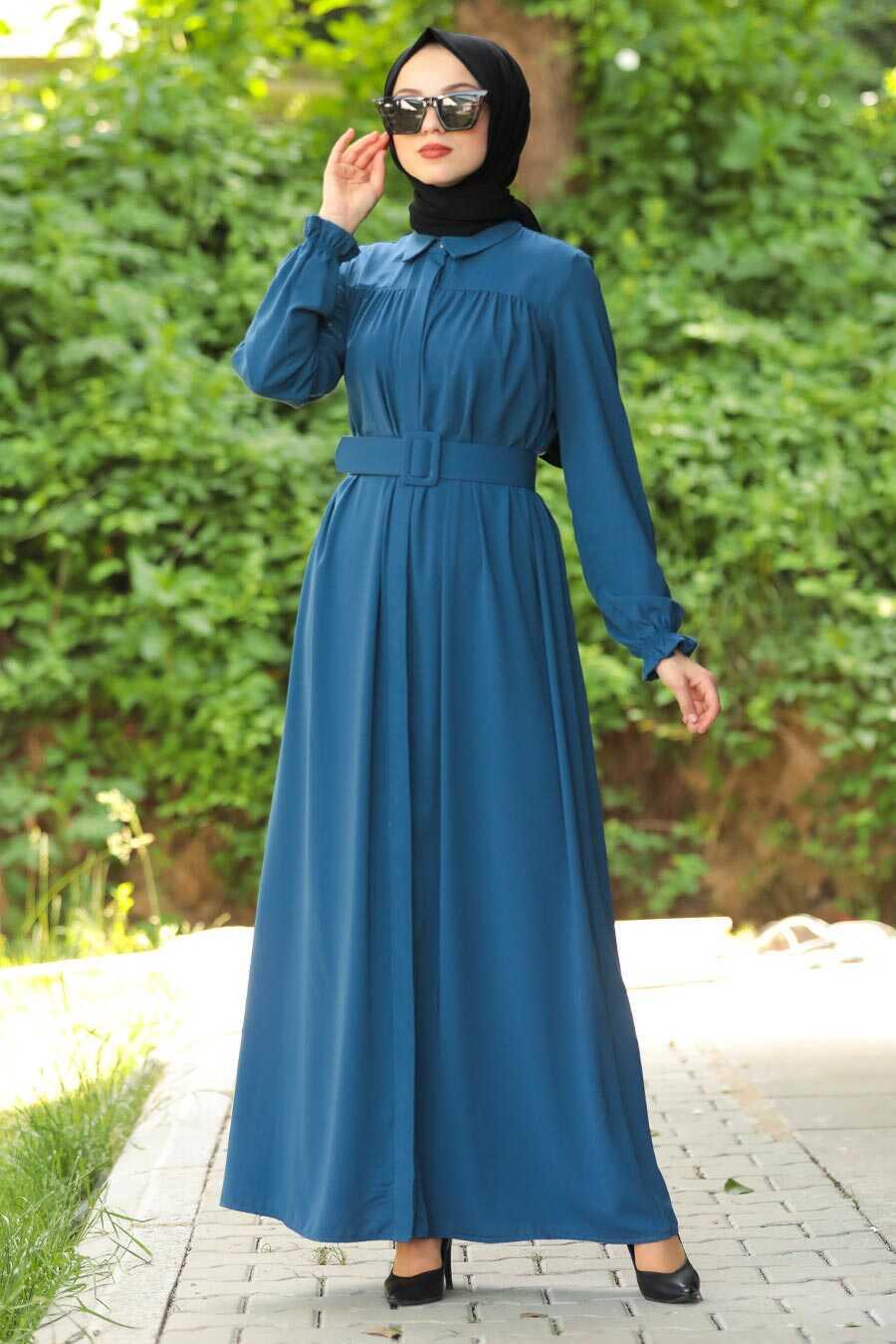 İndigo Blue Hijab Daily Dress 12580IM