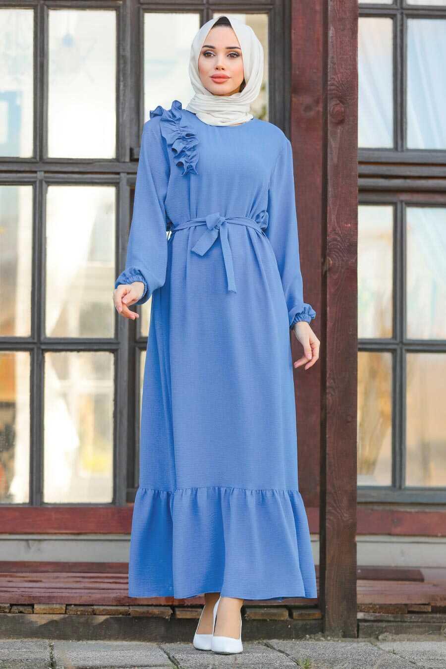 İndigo Blue Hijab Dress 1429IM